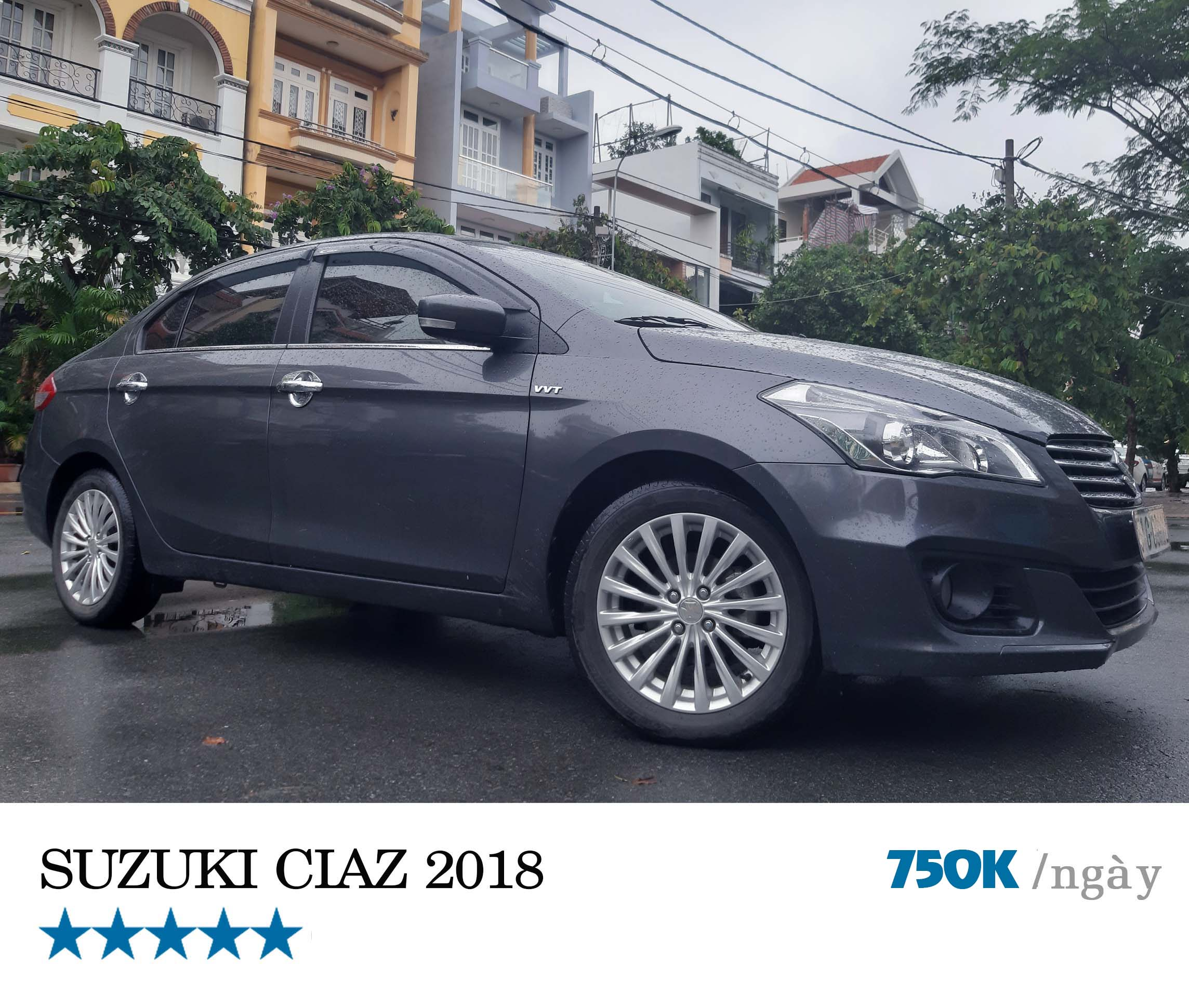 Cho thuê xe tự lái SUZUKI CIAZ 2018